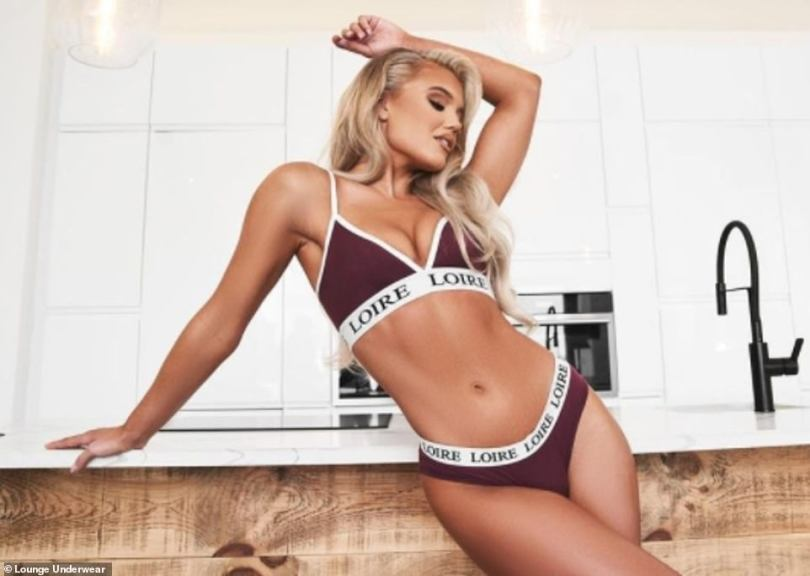 Sizzling: Lounge Underwear founders Daniel, 29, and Melanie Marsden, 28, whose clothing is worn by a host of celebrities including Love Island's Molly Smith (pictured) also made it onto the list