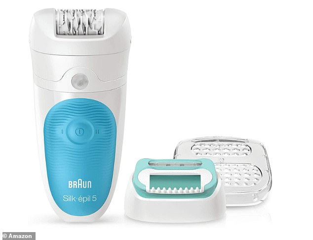 The epilator is designed to be used in two stages, helping you adjust to the epilation process