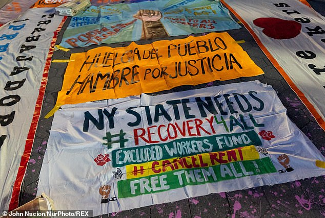 Protesters held hunger strikes and rallied outside government buildings demanding support for the state's undocumented population