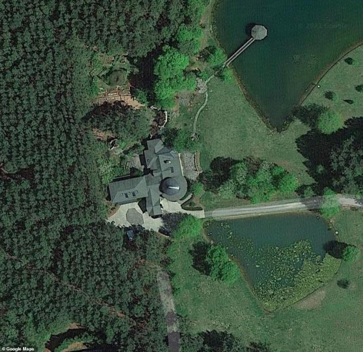 Robert and Barbara Lesslie lived in this spacious home on a large tract of land with an estimated value of more than $1million (pictured)
