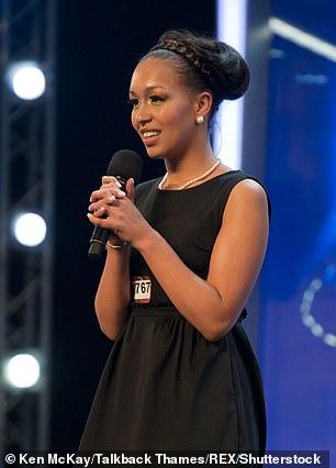 Rebecca Ferguson on X-Factor in 2010