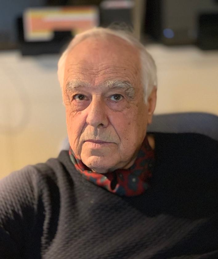 Hotelier Sir Richard Lexington Sutton (pictured), 83, was found stabbed to death inside his £2million home in north Dorset, on Wednesday night