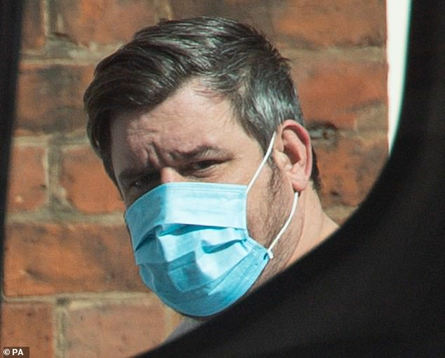 On Tuesday, 34-year-old James Paul Davis appeared before magistrates charged with causing baby Ciaran's death by dangerous driving, and other motoring offences (above, Davis outside Wolverhampton Magistrates' Court on April 6)