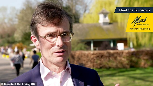 A Holocaust education charity has teamed up with British celebrities to make a series of emotional and inspirational films to remember victims of the Nazi genocide. Pictured:Robert Peston in Meet the Survivors