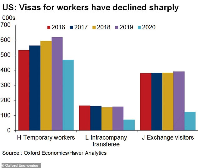 Under the Trump administration, the federal government slashed the number of immigrants who came to the United States on work visas