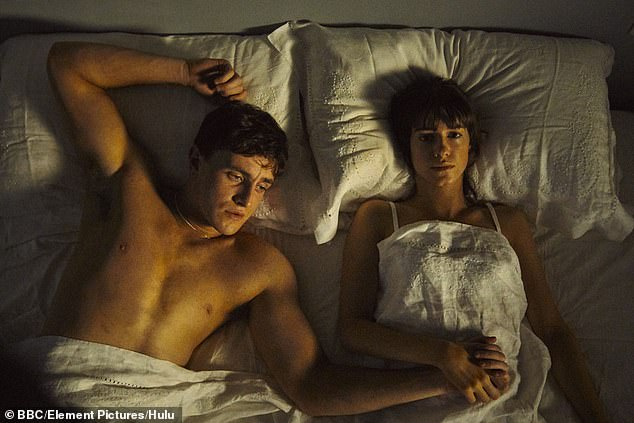 Guidelines:New industry guidelines, drawn up by Time's Up campaign group, have included additional rules about the use of CGI nudity in a bid to ensure actors are at ease when it comes to filming intimate scenes (pictured Paul Mescal and Daisy Edgar-Jones in Normal People)