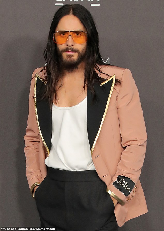 Stunning: Jared is one of the most handsome stars in Hollywood, known for his brooding good looks and acting talent (Pictured in 2019)