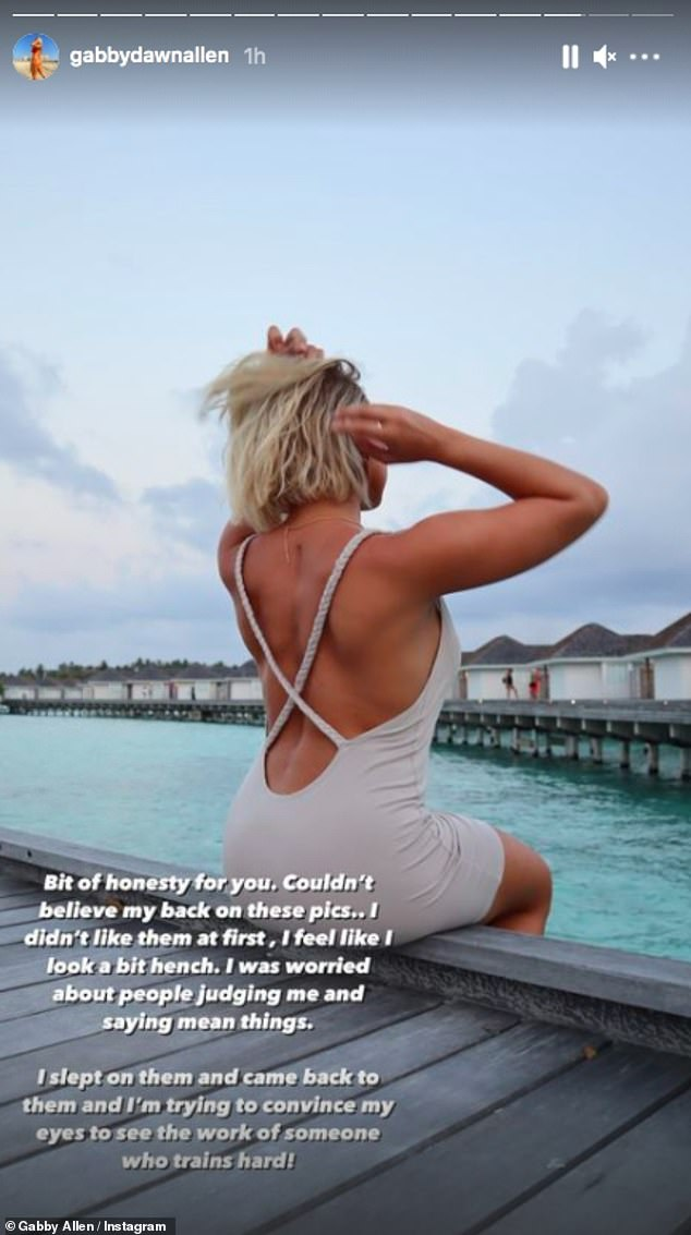Radiant:The reality star showed off her impressive holiday tan after months of living in Dubai with her beau Brandon Myers
