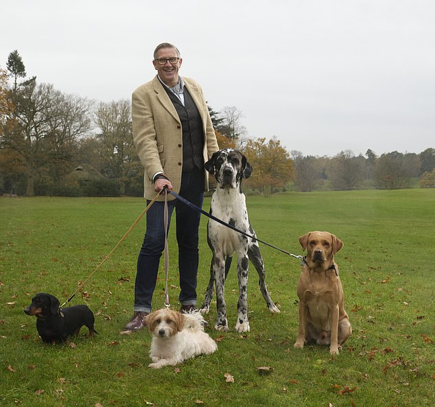 The star of Channel 5's Dogs Behaving (Very) Badly (pictured) found success running puppy and adult dog classes despite having no professional qualifications