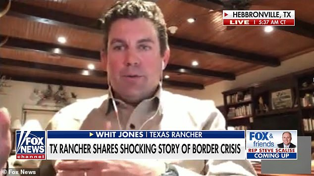 Whit Jones, a Texas rancher, told 'Fox & Friends' about the disturbing discoveries he and a neighbor have made