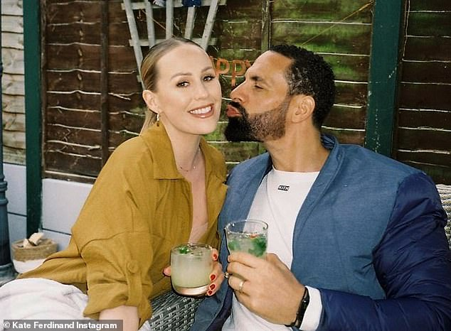 Loved it: Kate and Rio Ferdinand made time for themselves as they enjoyed a sweet date night on Thursday