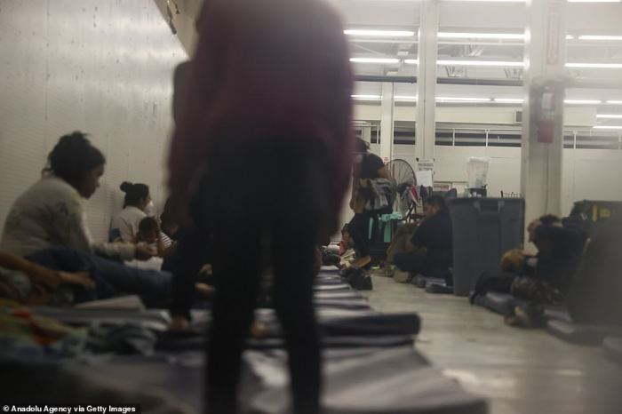 The migrants who crossed the border are then moved to shelters in Texas that are already overcrowded