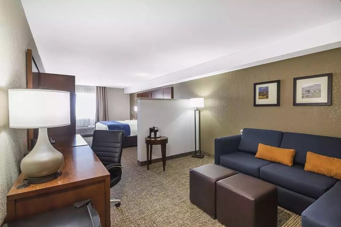 EL PASO: A larger room at the Comfort Suites