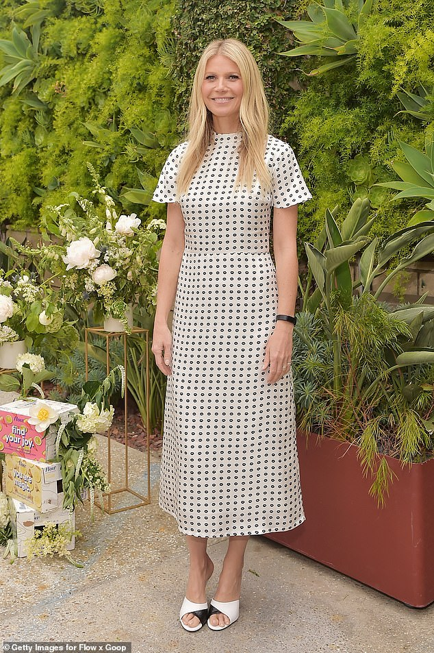 Strike a pose: Paltrow looked fabulous in polka dots at a Goop event in 2019