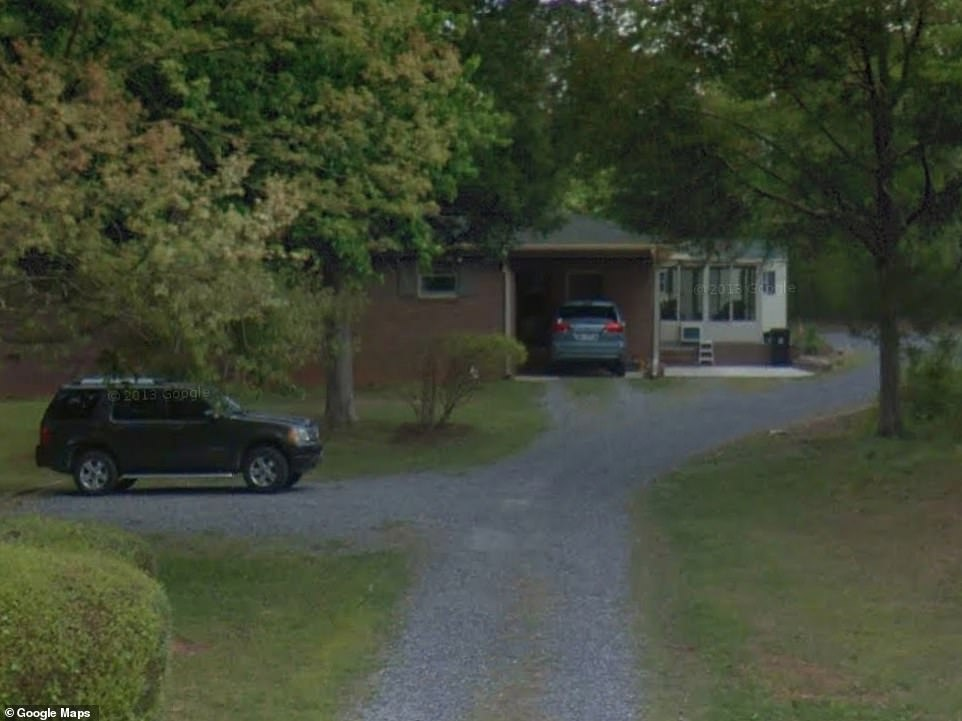 This photo shows the $170,000 home on Marshall Road belonging to Adams' parents