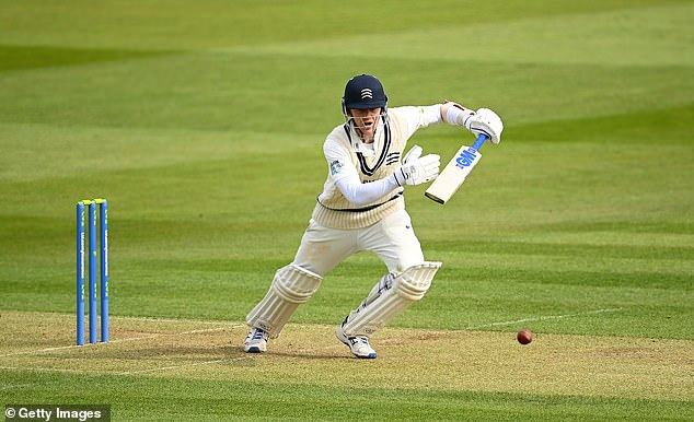 He had the honour of scoring the new season's first century and drove particularly well