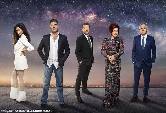 Pictured:Nicole Scherzinger, Simon Cowell, Dermot O'Leary, Sharon Osbourne and Louis Walsh