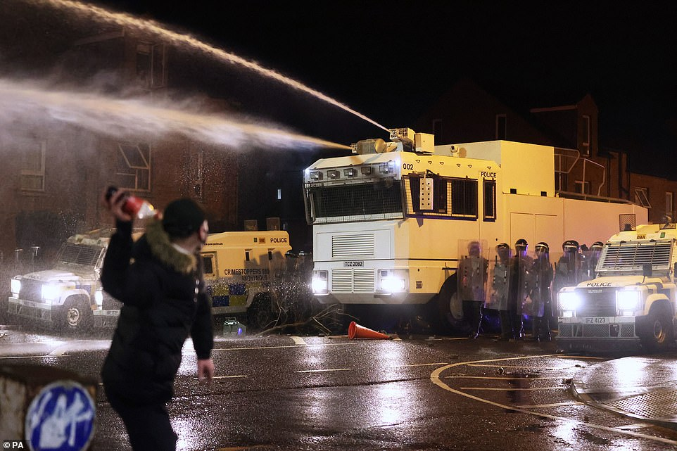 The unrest raging in Northern Ireland has been described as the 'worst in years' and tonight showed no sign of calming as PSNI officers were pelted with petrol bombs, fireworks and rocks
