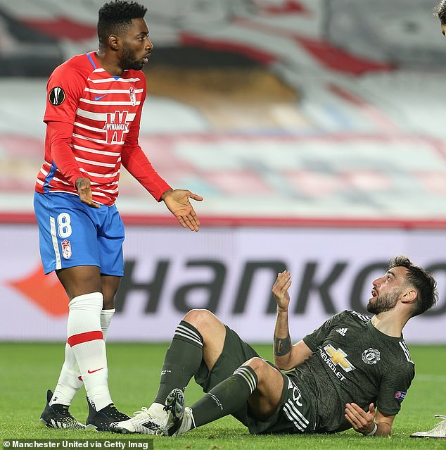 Manchester United were awarded a late penalty for a foul on Bruno Fernandes by Yan Brice