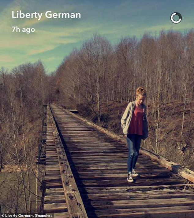 Libby posted this photo of Abby on an abandoned railroad bridge hours before they vanished