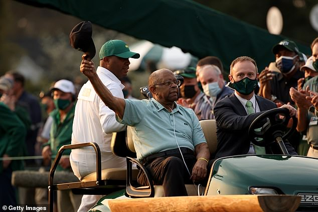 Lee Elder, Augusta's first black player, enjoyed his day out as one of the honorary starters
