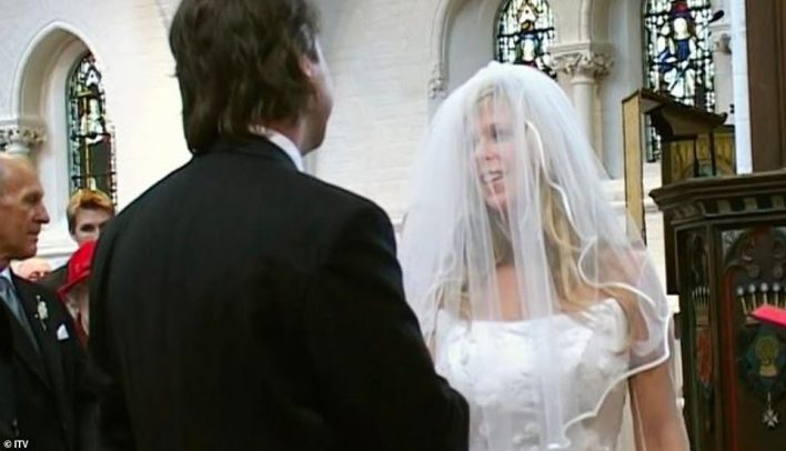 Old times: Kate and Derek exchanged vows in Camden in 2005. The presenter was previously married to ITV Meridian bossIan Rumsey from 1998 to 2002