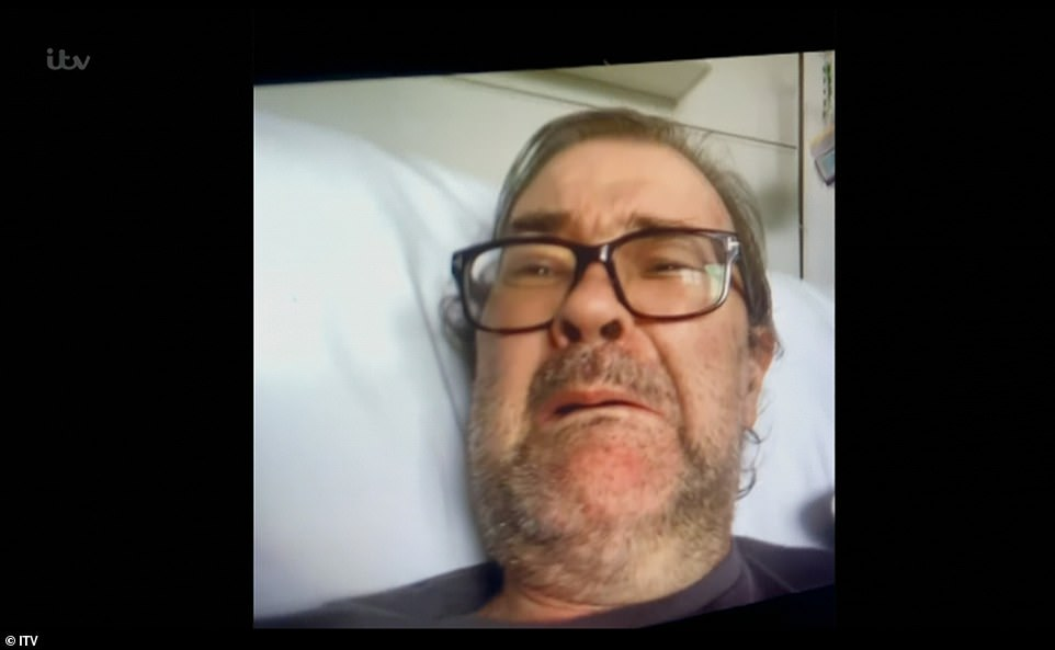 Emotional:Derek was overcome with emotion after Kate video-called him following his return to consciousness in July, four months after his admission to intensive care