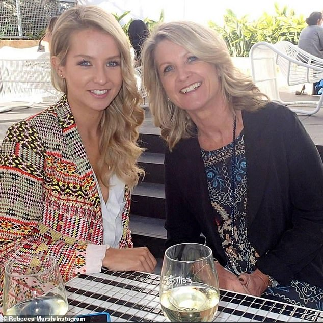 Rebecca Marsh paid a touching tribute to her mother Annette O'Donovan on Friday (pictured together)