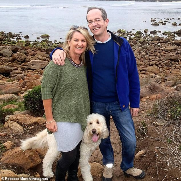 Mrs O'Donovan (pictured with her husband and their dog) had never smoked