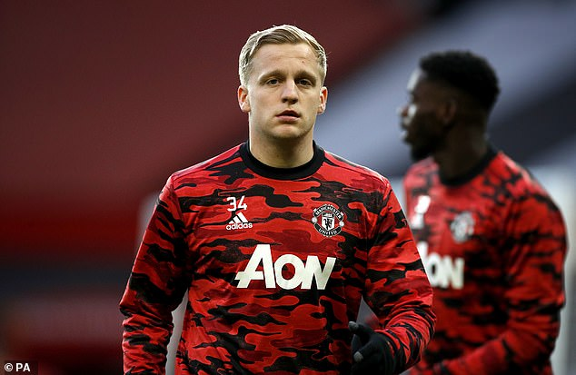 The Dutchman, 23, has made just two Premier League starts for Manchester United this season