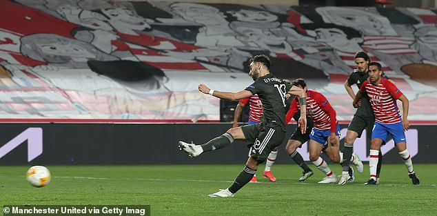 Fernandes also scored a penalty during Thursday night's Europa League game with Granada