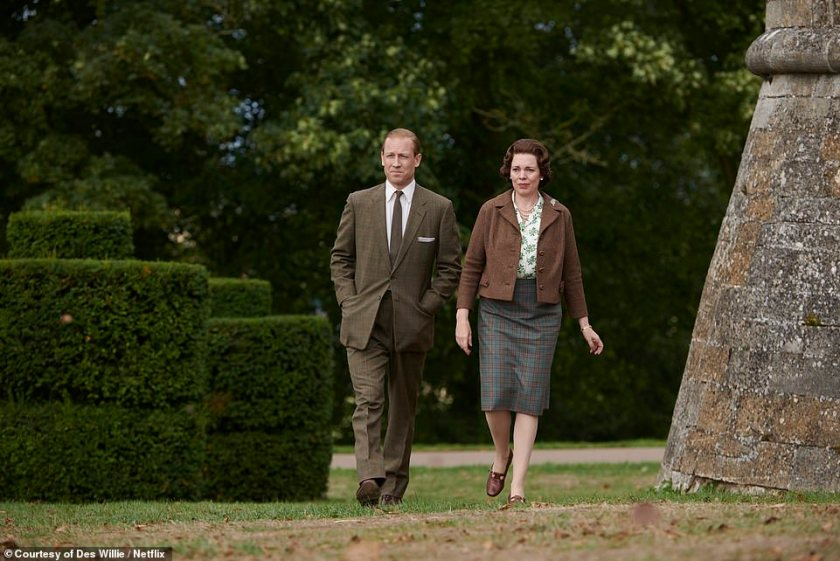Olivia Coleman as the Queen and Menzies as Prince Philip in the third series of The Crown, which sees the couple struggling with ageing