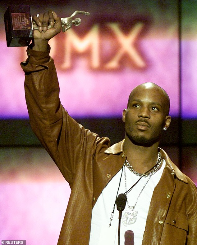 Success story: DMX remains the only rapper to have his first five albums debut at No. 1 (pictured above at the 14th annual Soul Train Music Awards in 2000)