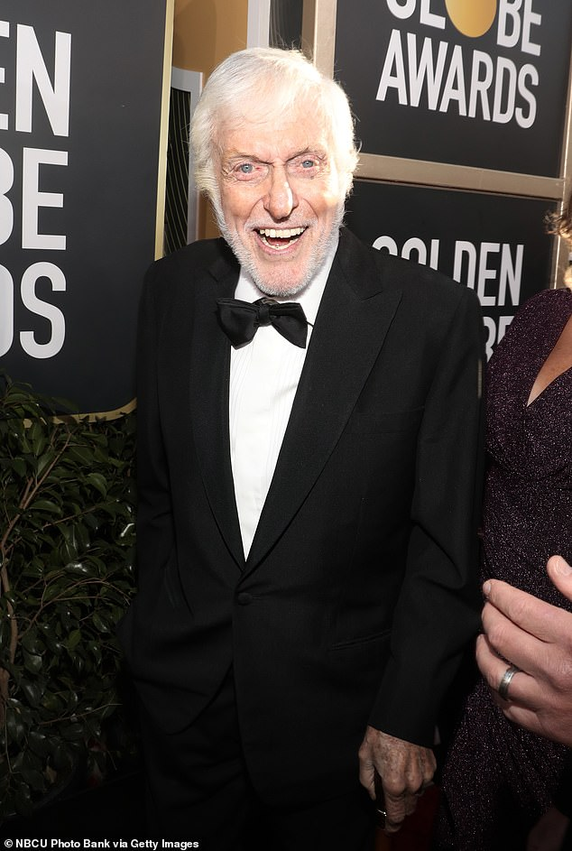 Doing well: Entertainment legend Dick Van Dyke joked about being bewildered by his long and healthy life, less than fours months after celebrating his 95th birthday in December; seen in 2019