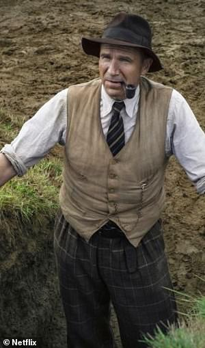 Discovery: However, he was ultimately side-lined by the archaeological establishment (pictured actor Ralph who plays Basil)