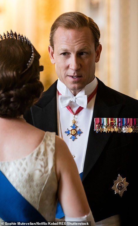 Tobias Menzies (picutred) who took over as Prince Philip for the fourth and fifth season alongside Olivia Colman, quoted Shakespeare in his tribute to the Duke, adding: 'Rest in Peace'
