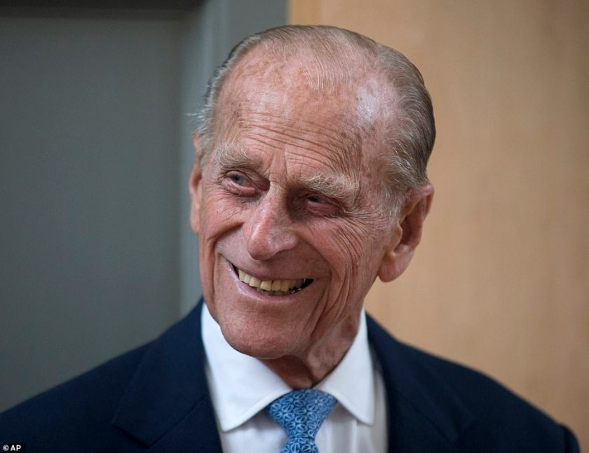 Tragic: Buckingham Palace announced the death of Prince Philip at just after midday on Friday - and described the Queen's 'deep sorrow'pie