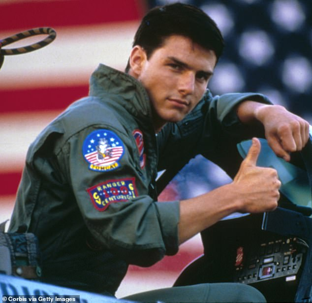Meanwhile: Top Gun: Maverick is a sequel to the iconic 1986 action drama Top Gun (pictured) that helped propel Tom to the stardom he enjoys today.