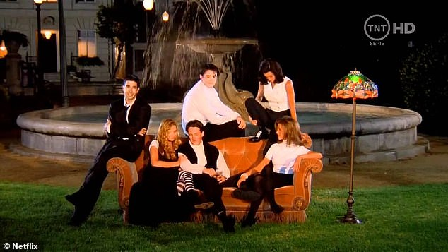 Together: The cast were known for all jumping onto the orange couch in the long-running show
