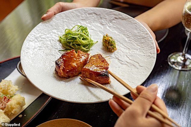 Delicacies: Sokyo's tasting menu for The Star Championships is available for diners at their Sydney restaurant at The Star until April 11.Executive chef of Sokyo, Chase Kojima, is the Official Culinary Ambassador for the Autumn Racing Carnival