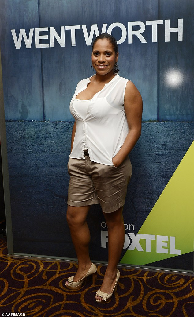 Ceremony:Channel 10 held a traditional 'welcome to country' ceremony near the Neighbours set afterShareena Clanton (pictured) made racism claims about her time on the hit soap