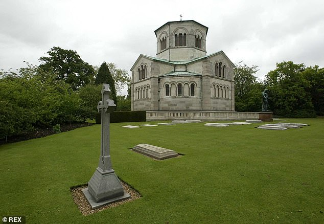 Prince Philip is expected to be buried in Frogmore Gardens in the grounds of Windsor Castle, the site of Queen Victoria and Prince Albert's mausoleum (pictured)