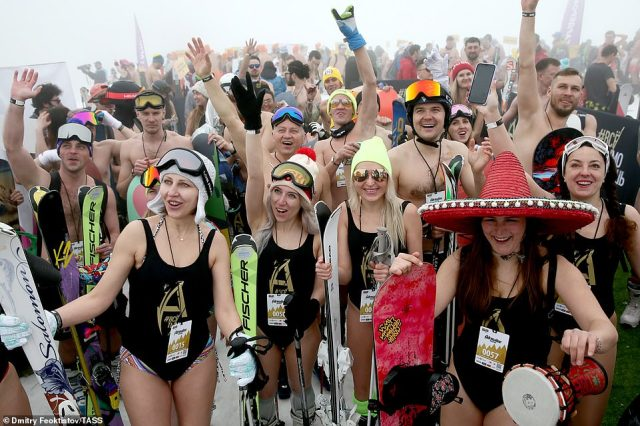 BoogelWoogel made international headlines in 2018 when nearly 2,000 skiers broke the Guinness world record for the world's largest downhill ski in swimsuits