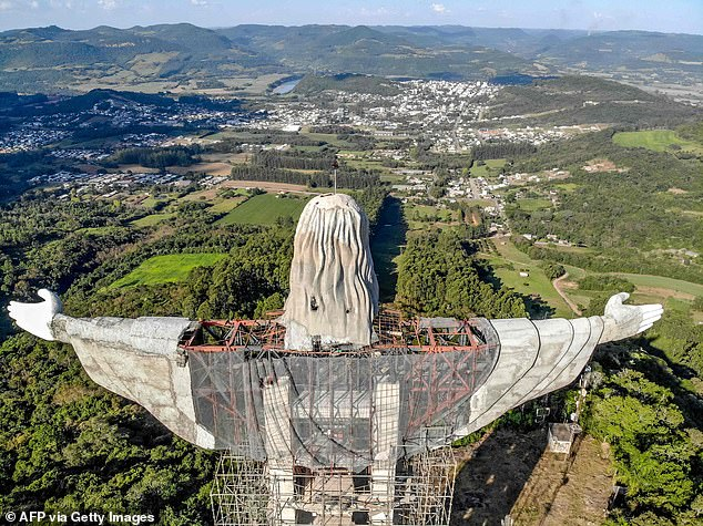 When completed later this year, it will be one of the tallest statues of Christ in the world.