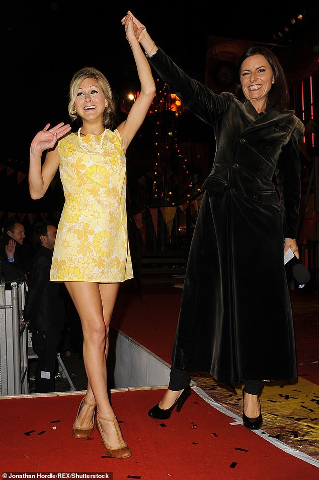 History: The Big Brother icon, 38, appeared on the seventh series of the hit reality show in 2006 (pictured with Davina McCall in 2010 after appearing on the Ultimate Big Brother series)
