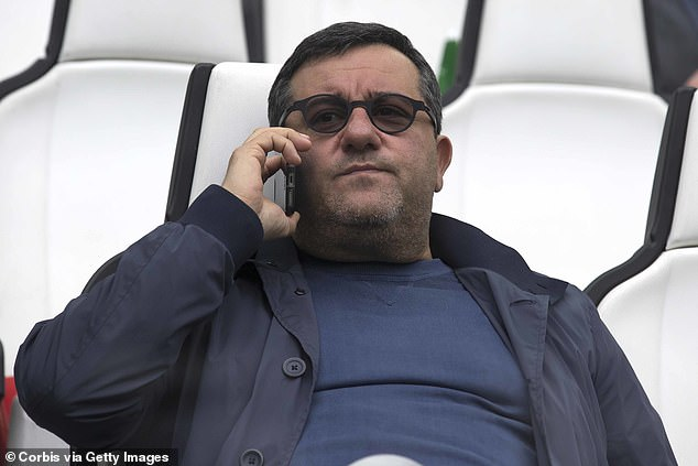 His agent Mino Raiola said in December that his time at Manchester United was over