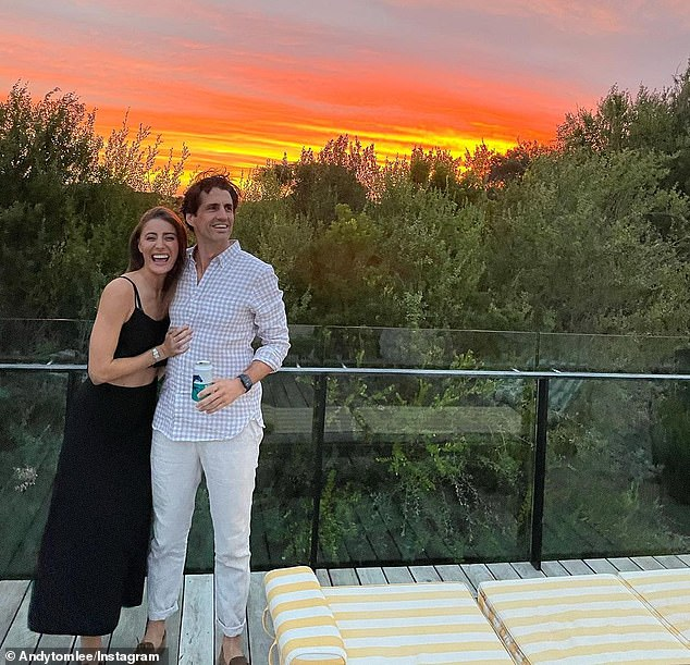 'We love exercising as a couple': Despite the changing number on the scale, Andy, 39, told the publication that exercise has been a great way in handling the stress of a pandemic.In fact, it's an activity both he and his model girlfriend Rebecca, 30, love to do together