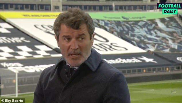 Keane (above) joked about Tottenham's slide from title challengers to outside the top four