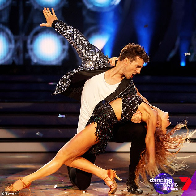 Dance dance dance!Matty 'J' Johnson (pictured) made his debut on Dancing With The Stars Australia on Sunday night