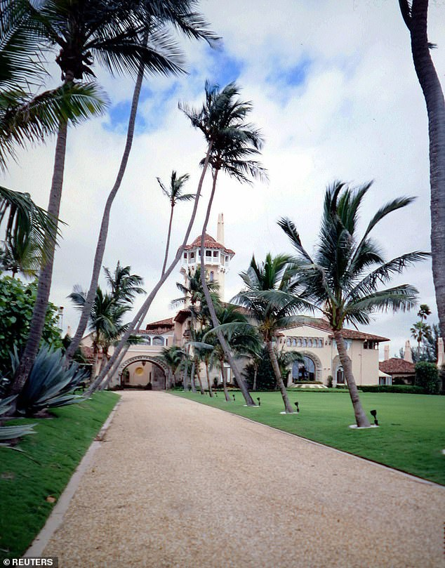 Stallone reportedly paid the $200,000 membership initiation fee to join Mar-a-Lago in Palm Beach (seen above)